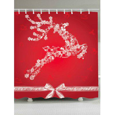 Christmas Reindeer Pattern Waterproof Shower Curtain