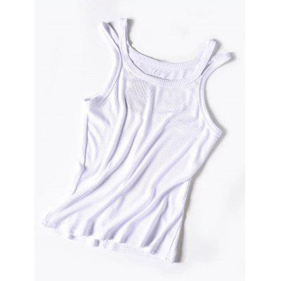 Cutout Knitted Tank Top