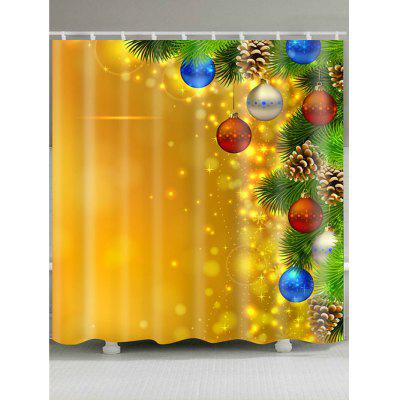 Christmas Colorful Balloons Pattern Shower Curtain