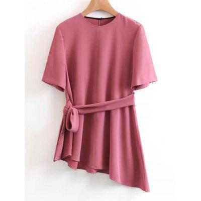 Asymmetrical Belted Top