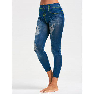 Faux Distressed Jeggings