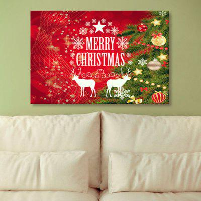 1Pcs Christmas Reindeer Prints Canvas Wall Art Painting