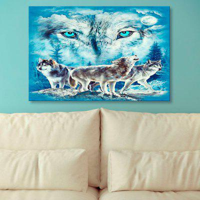 Wolf Print Wall Art Canvas Painting