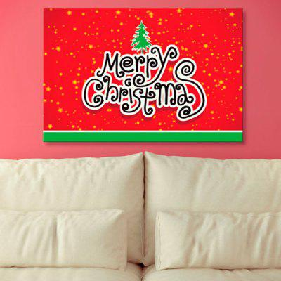 Merry Christmas Tree Print Wall Art Canvas Paintings