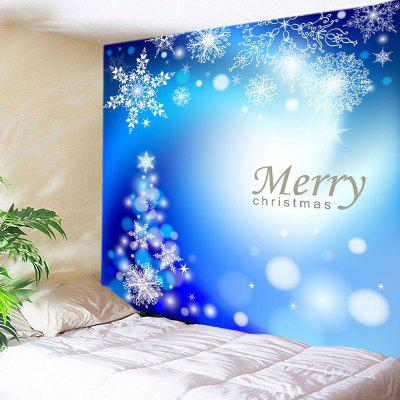 Wall Hanging Art Merry Christmas Snowflakes Print Tapestry