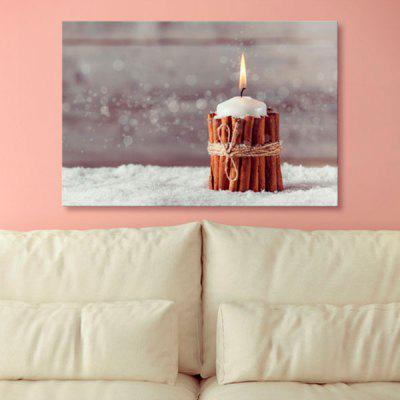 Christmas Candle Canvas Print Wall Art Paintings