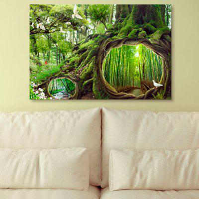 Forest Tree Hole Print Wall Art Canvas Paingting
