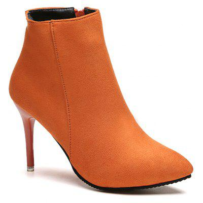 Pointed Toe Stiletto Ankle Boots
