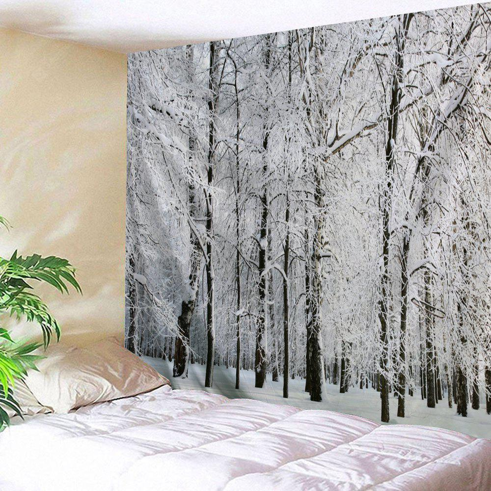 Wall Hanging Art Snowy Forest Print Tapestry