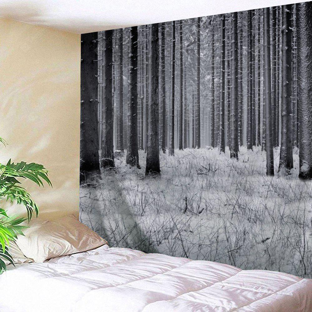 Wall Hanging Decor Snowy Forest Print Tapestry