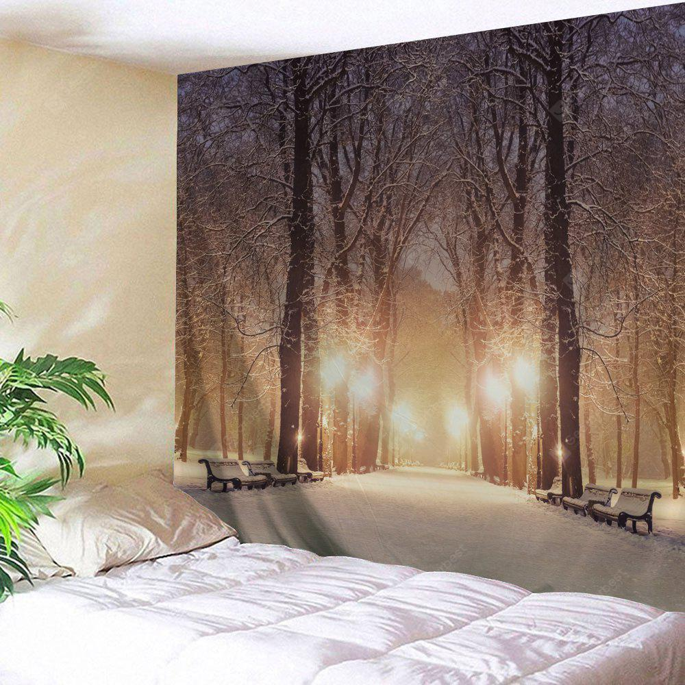 Wall Hanging Art Snowy Avenue Print Tapestry