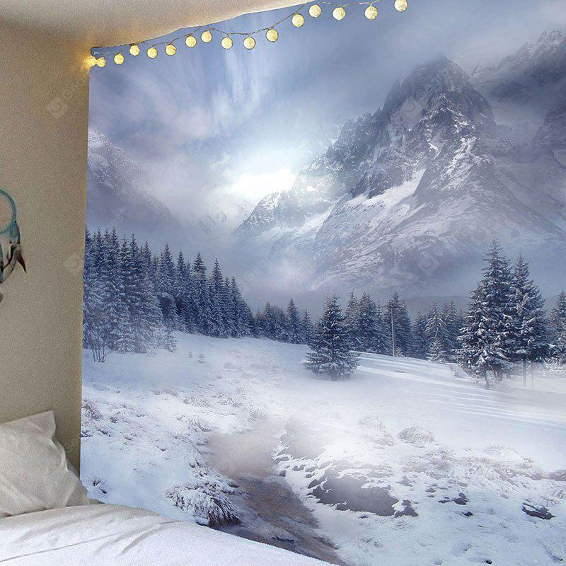 Snow Mountain Printed Waterproof Wall Hanging Tapestry