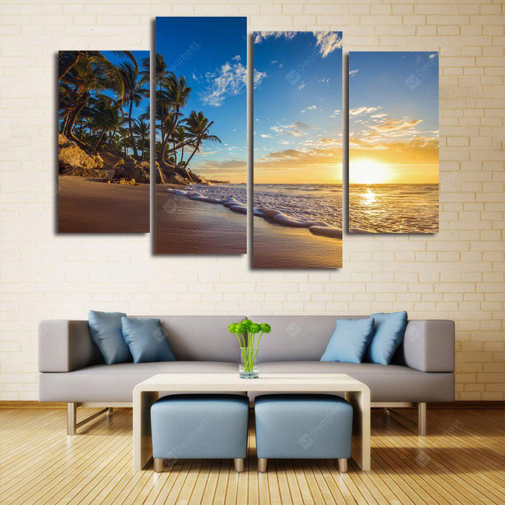 Beach Sunrise Print Unframed Canvas Split Paintings
