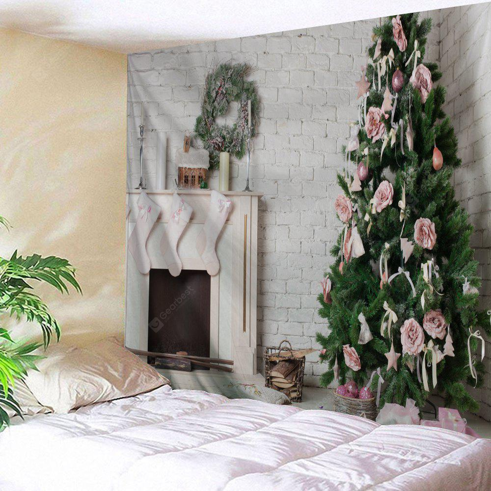 Christmas Fireplace Tree Wall Hanging Tapestry