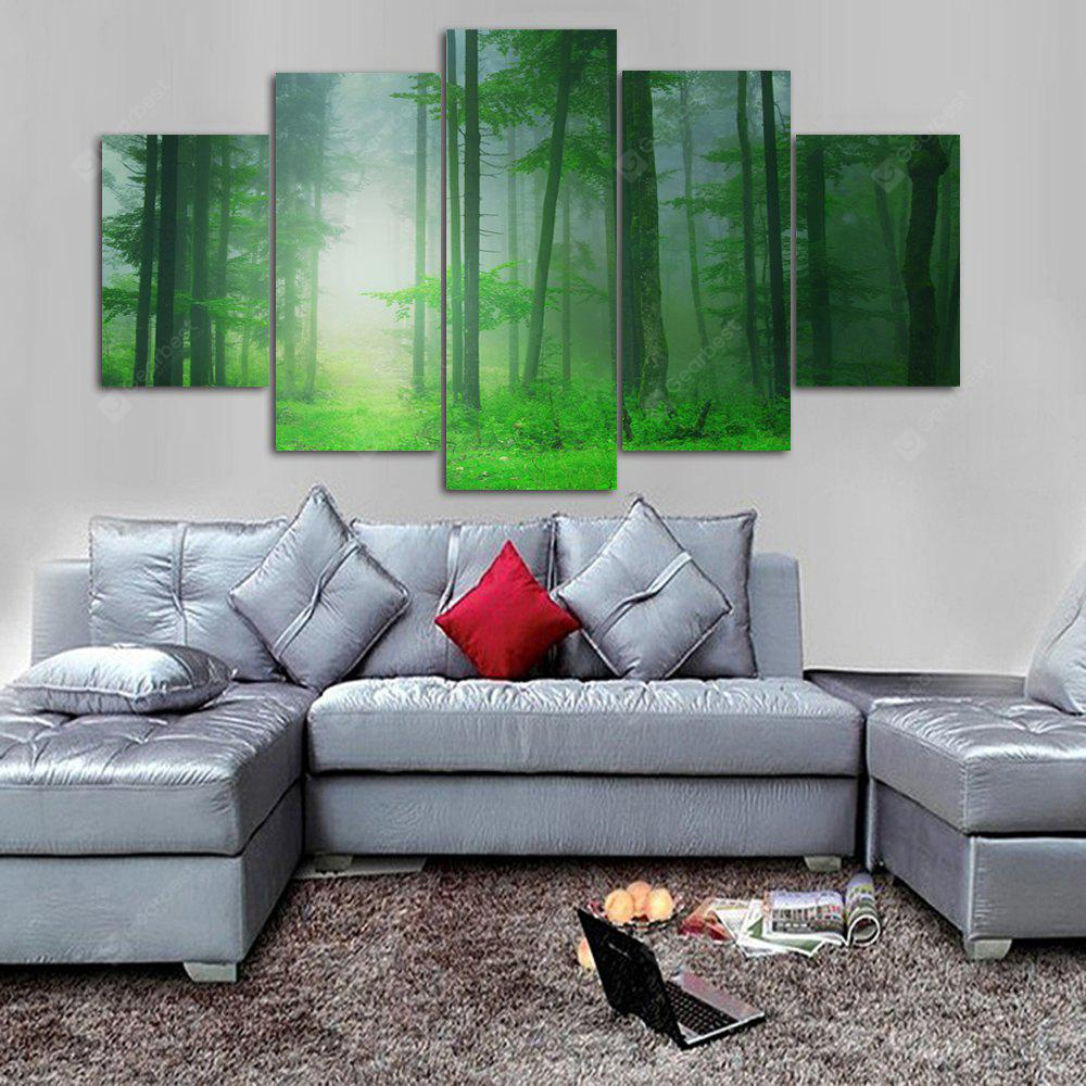 Forest Path Print Unframed Canvas Split Paintings