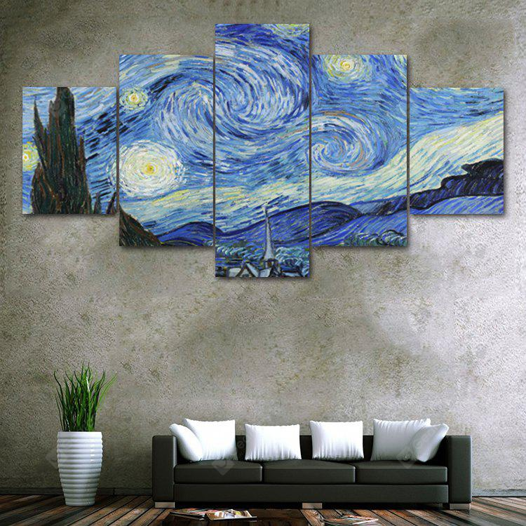 Galaxy Night Print Unframed Canvas Split Paintings
