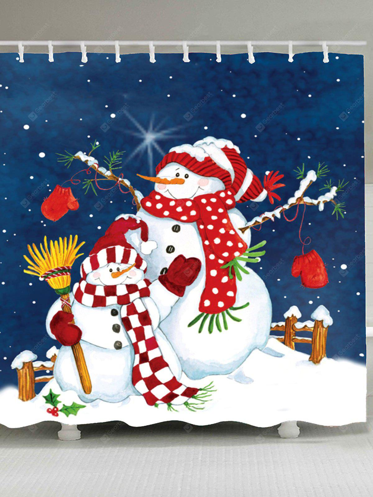 A Couple of Christmas Snowmen Shower Curtain