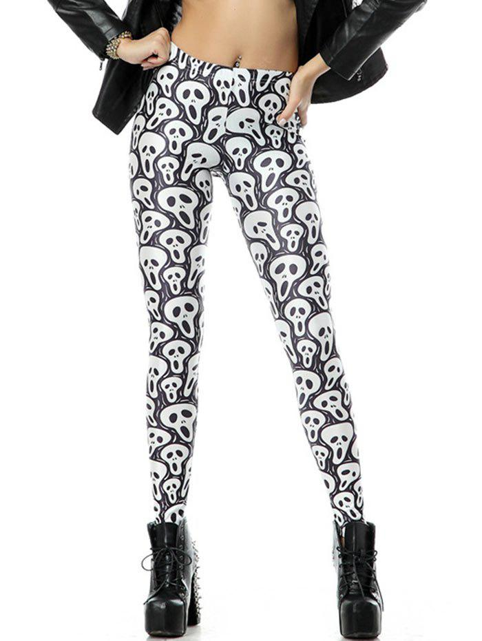 GRAY S Scary Halloween Leggings