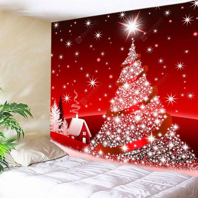 Wall Hanging Art Christmas Tree Star Print Tapestry