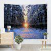 Wall Hanging Art Sunlight Snowy Forest Print Tapestry - COLORMIX