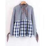 Checked Bow Tied Loose Blouse - CHECKED