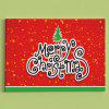 Merry Christmas Tree Print Wall Art Canvas Paintings - RED
