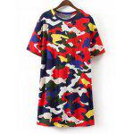 Camuflagem Shift T Shirt Mini Dress - MULTICOR