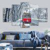 Car Print Wall Art Split Canvas Paintings - GREY WHITE