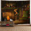 Christmas Fireplace Print Wall Art Tapestry - COLORMIX