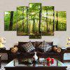 Sunlight Forest Print Unframed Canvas Split Paintings - GREEN