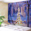 Christmas Snow World Wall Hanging Tapestry - VIOLET BLUE