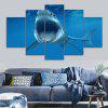Ocean Shark Print Unframed Canvas Split Paintings - BLUE