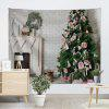 Christmas Fireplace Tree Wall Hanging Tapestry - COLORMIX