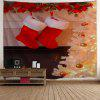 Christmas Fireplace Socks Print Wall Tapestry - COLORMIX