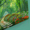 Forest Path Print Wall Art Canvas Painting - GREEN