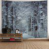 Christmas Snow Forest Path Wall Tapestry - GREY WHITE