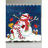 A Couple of Christmas Snowmen Shower Curtain - COLORFUL