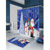 Christmas Tree Snowman Santa Claus Patterned Shower Curtain - COLORFUL