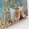 Starfish Wood Grain Print Wall Art Canvas Painting - CASPIAN