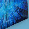 Forest Sky Print Canvas Wall Art Painting - BLUE