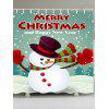Merry Christmas Snowman Patterned Shower Curtain - COLORFUL