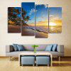 Beach Sunrise Print Unframed Canvas Split Paintings - COLORMIX