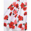 Vintage Floral Print Pin Up Skater Dress - RED