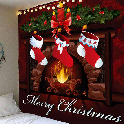 Buy COLORFUL Christmas Stockings Pattern Waterproof Wall Hanging Tapestry for $12.27 in GearBest store