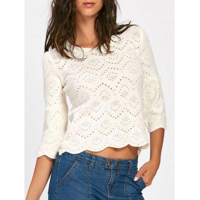 Bell Sleeve Hollow Out Sweater