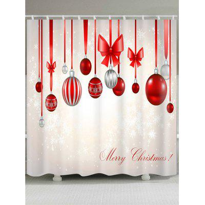 Christmas Colorful Balloons Bowknot Shower Curtain
