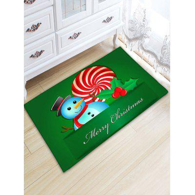 Christmas Snowman Thickening Flannel Area Rug