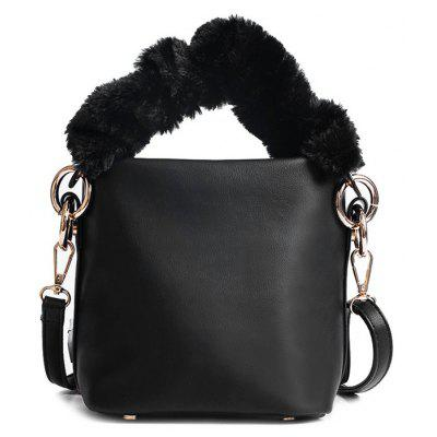 Faux Leather Zipper Crossbody Bag