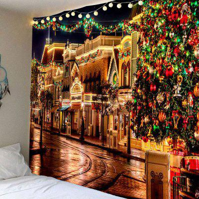Buy COLORFUL Christmas Decorative Street Patterned Wall Tapestry for $22.25 in GearBest store