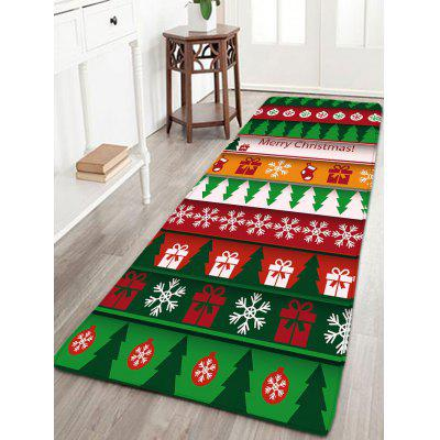 Flannel Thin Christmas Graphic Antiskid Mat